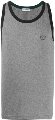Dolce & Gabbana Logo Print Tank Top