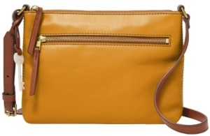 Fossil Women's Fiona East West Leather Crossbody