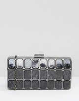 Liquorish Black Marble Clutch Bag