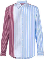 Marni striped panel shirt