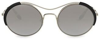 Prada 53MM Cutout Oval Sunglasses