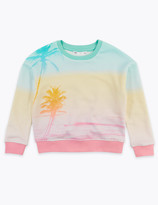 Marks and Spencer Cotton Rich Sunset Photographic Sweatshirt (2-7 Years)