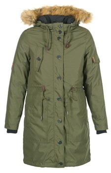 Cream ADA PARKA JACKET women's Parka in Kaki