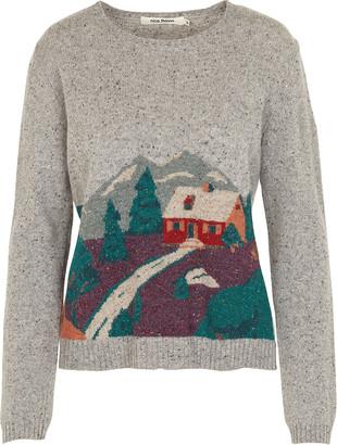 Nice Things Landscape Intarsia Sweater - 10 - Grey