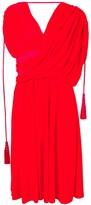 Lanvin asymmetric midi dress
