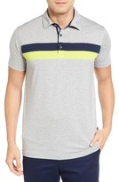 Bobby Jones Men's Ace Chest Stripe Jersey Golf Polo
