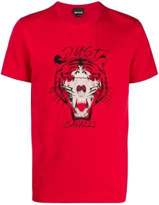 Just Cavalli tiger skull T-shirt