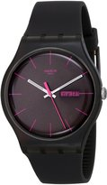Swatch Men's SUOC700 Quartz Black Dial Plastic Measures Seconds Watch