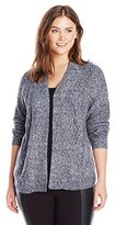 Leo & Nicole Women's Plus-Size Open Cardigan Sweater