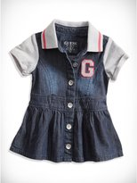 GUESS Newborn Girl Logo Applique Dress with Bloomers (0-9M)
