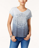Style&Co. Style & Co Petite Mandala Graphic Ombre Top, Created for Macy's