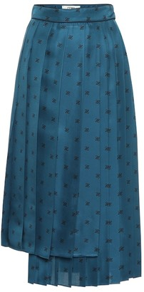 Fendi Karligraphy silk twill midi skirt