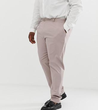 ASOS DESIGN Plus wedding skinny stretch cotton suit trouser in mink