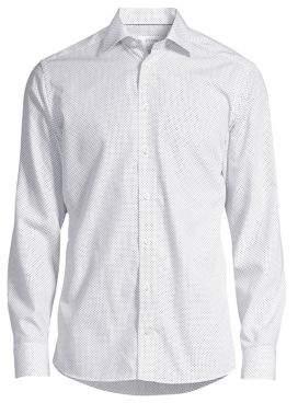 Eton Slim-Fit Dot Dress Shirt