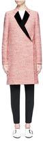 Victoria Beckham Satin lapel marled bouclé tailored coat
