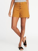 Old Navy High-Waisted Button-Fly Twill Shorts For Women - 4-Inch Inseam