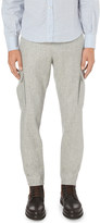 Brunello Cucinelli Regular-fit tapered wool utility trousers