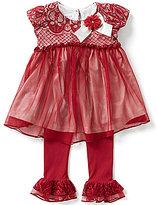 Bonnie Jean Little Girls 2T-6X Lace Mesh Dress and Pants Set