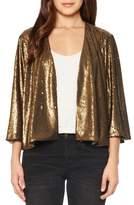 Willow & Clay Women's Sequin Crop Jacket