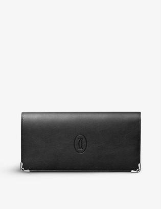Cartier Must de calfskin zipped international wallet