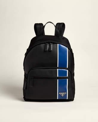 Prada Black & Blue Contrast Stripe Backpack