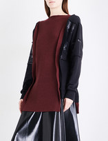 Yang Li Reconstructed cotton-jersey and wool jumper
