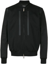 DSQUARED2 matte insert bomber jacket - men - Polyester/Spandex/Elastane/Virgin Wool - 46