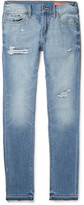 Jean Shop Jim Skinny-Fit Distressed Selvedge Denim Jeans