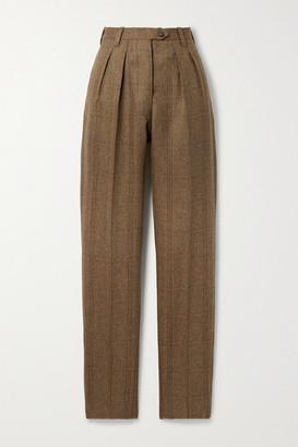 Giuliva Heritage Collection Net Sustain The Husband Checked Herringbone Wool Slim-leg Pants - Brown
