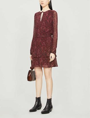 Paige Doah floral-print silk mini dress