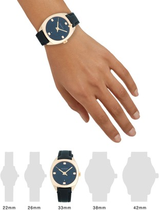 Gucci Stainless Steel & Leather-Strap Watch