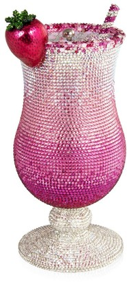 Judith Leiber Couture Pink Lady Cocktail Crystal Clutch