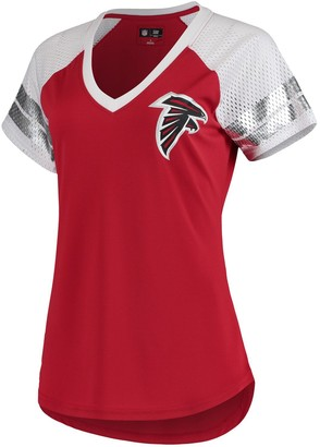 G Iii Women's G-III 4Her by Carl Banks Red/White Atlanta Falcons All Star V-Neck T-Shirt