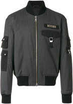 Versus logo patch bomber jacket