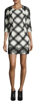 BCBGMAXAZRIA Dorielle Printed Button Sheath Dress