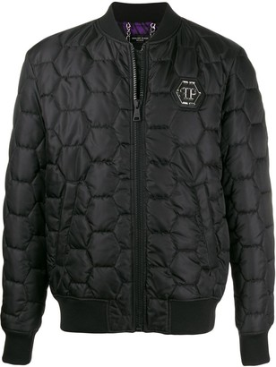 Philipp Plein Hexagon quilted bomber jacket