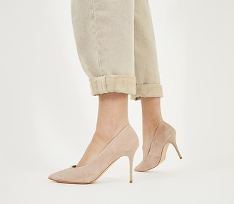 Office Ministry Mid Court Heels Nude Suede