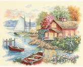 Dimensions Peaceful Lake House Counted Cross Stitch Kit - 14 x 11