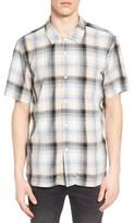 Obey Men's Myles Glen Plaid Woven Shirt