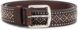 Orciani Micro-Studded Leather Belt