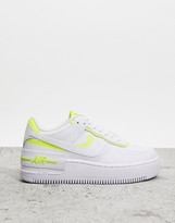 Force 1 Shadow White And Yellow Trainers