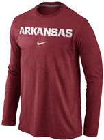 Nike Men's Arkansas Razorbacks Wordmark Long-Sleeve Tee
