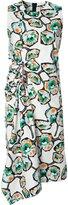 Marni draped Whisper print dress - women - Cotton - 38