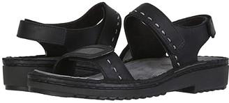 Naot Footwear Benya (Oily Coal Nubuck/Reptile Gray Leather) Women's Shoes