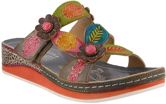 Spring Step L'Artiste by Leather Slide Sandals- Pillow
