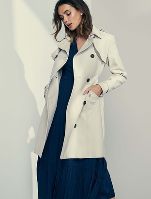Forever New Bethany Trench Coat - Stone - 4
