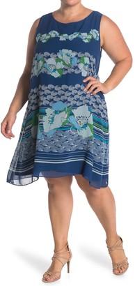 Max Studio Geometric Print A-Line Dress