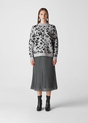 Leopard Intarsia Knit