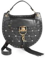Balmain Quilted Leather Saddle Bag