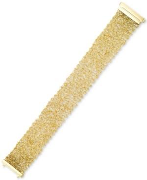 Italian Gold Mesh Vermeil Bracelet in 14k Gold Over Sterling Silver